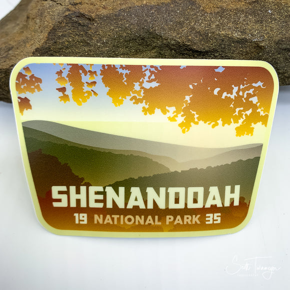 Shenandoah National Park Vinyl Sticker Decal in Fall