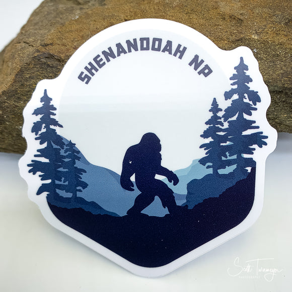 Shenandoah National Park Bigfoot Sasquatch Vinyl Sticker Decal
