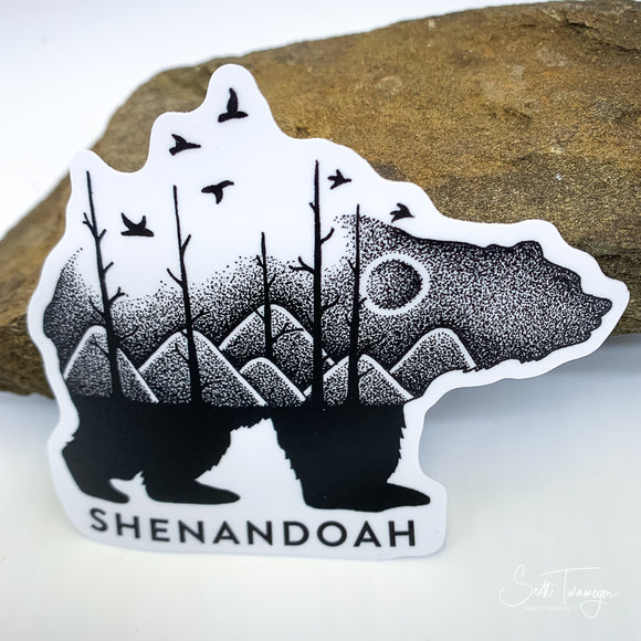 Shenandoah Mountains Bear Vinyl Sticker Decal