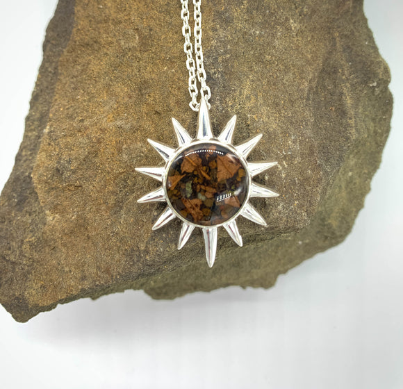The Sun Necklace with Soil from the Blue Ridge Mountains