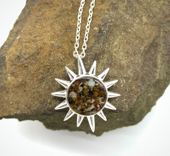 The Sun Necklace with Riverbed from the Shenandoah River