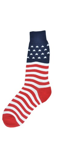 Stars and Stripes USA Flag Socks fits Larger Feet