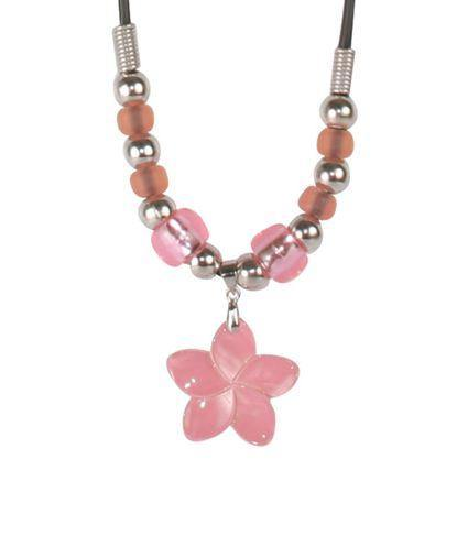 Del Sol Color-Changing Necklace - Small Pink Flower Shell - Turnmeyer Galleries
