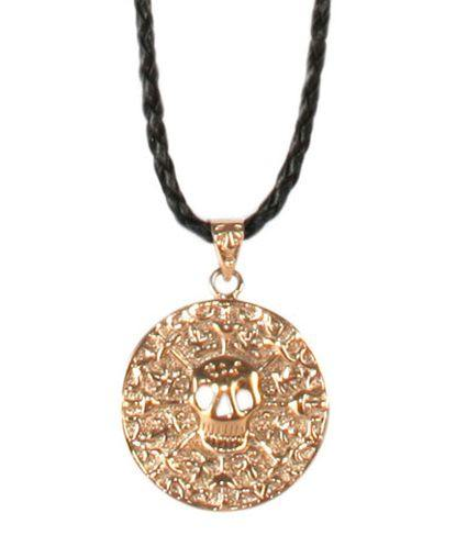Del Sol Color-Changing Necklace - Pirate Medallion - Turnmeyer Galleries