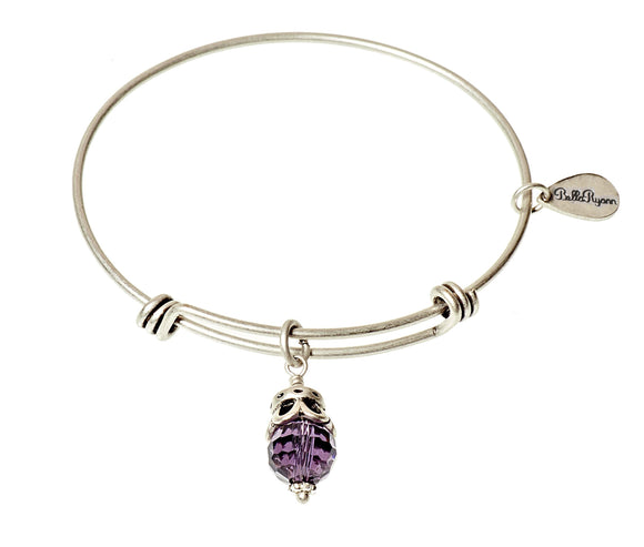 Bella Ryann Bangle Birthstone Bracelet - February - Turnmeyer Galleries