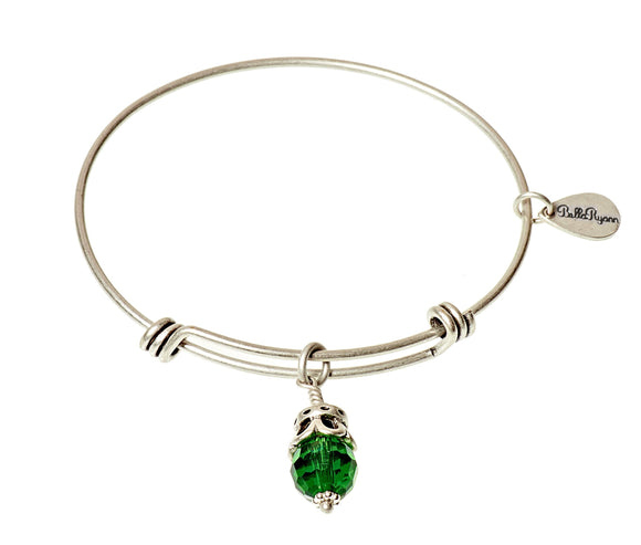 Bella Ryann Bangle Birthstone Bracelet - May - Turnmeyer Galleries