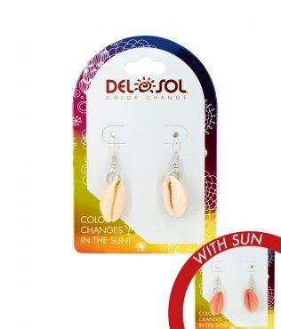 Del Sol Color-Changing Earrings – Pink Cowrie - Turnmeyer Galleries