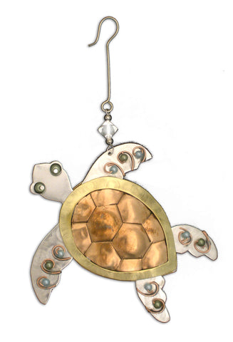 Sea Turtle 3D Metal Ornament