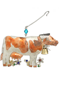 Cow 3D Metal Ornament - Turnmeyer Galleries