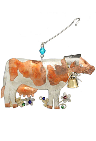 Cow 3D Metal Ornament