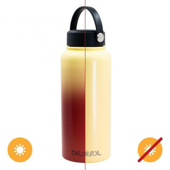 Del Sol Color-Changing 32 oz Bottle - Yellow to Orange - Turnmeyer Galleries