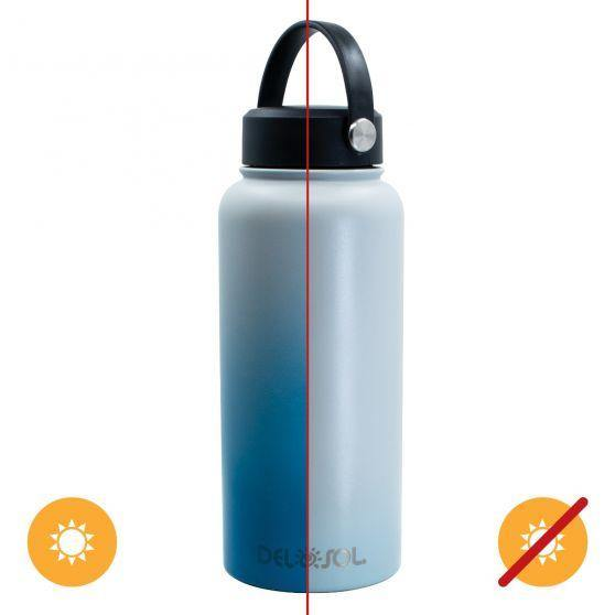 Del Sol Color-Changing 32 oz Bottle - Grey to Blue - Turnmeyer Galleries