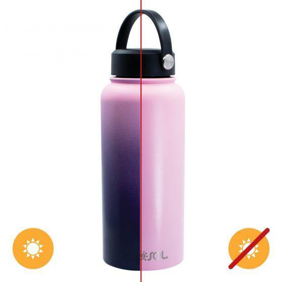 Del Sol Color-Changing 32 oz Bottle - Pink to Purple - Turnmeyer Galleries