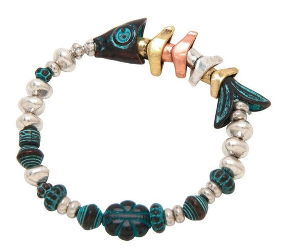 PATINA MIX FISHBONES BRACELET