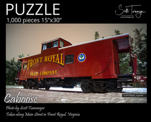Caboose Fine Art Photography Jigsaw Puzzle