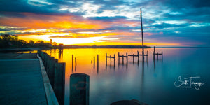Sunset in Colonial Beach Fine Art Landscape Photography Print