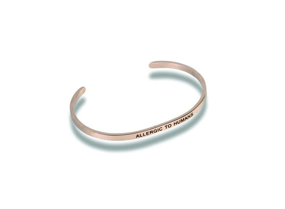 Allergic to Humans Stainless Steel Bracelet - Turnmeyer Galleries