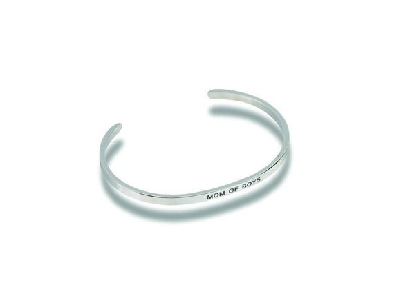 Mom Of Boys Stainless Steel Bracelet - Turnmeyer Galleries