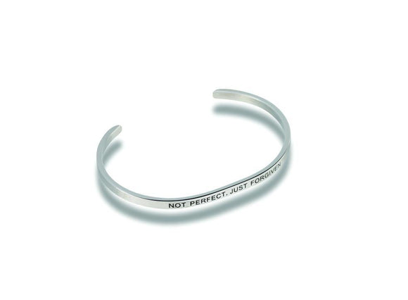 Not Perfect Just Forgiven Stainless Steel Bracelet - Turnmeyer Galleries