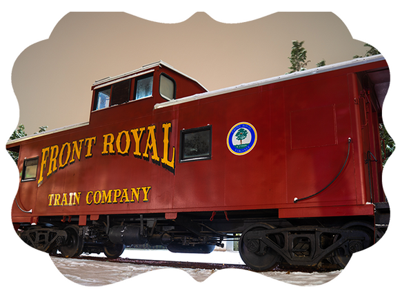 Front Royal Caboose 2020 Limited Edition 1 of 50 Double Sided Metal Ornament - Turnmeyer Galleries