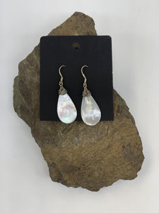 Mother of Pearl Sterling Silver Ear Rings 925 - Turnmeyer Galleries
