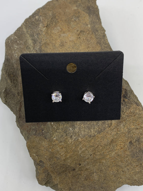 Sterling Silver Cubic Zirconia 1 Carat Ear Rings 925 Round Cut - Turnmeyer Galleries