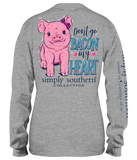 Simply Southern Don't Go Bacon My Heart Long Sleeve Shirt