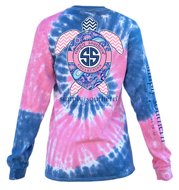 Simply Southern Turtle Long Sleeve Shirt TieDye