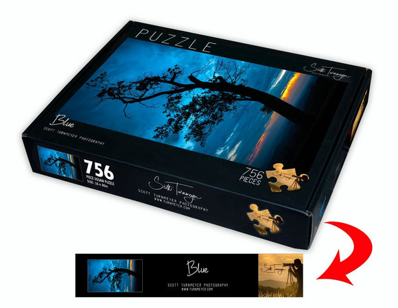Blue Fine Art Photography Jigsaw Puzzle by Scott Turnmeyer - Turnmeyer Galleries