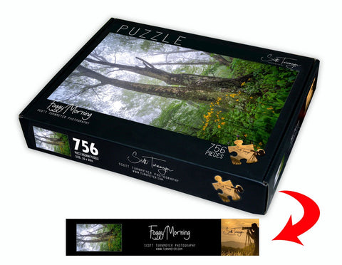 Foggy Morning Fine Art Photography Jigsaw Puzzle by Scott Turnmeyer