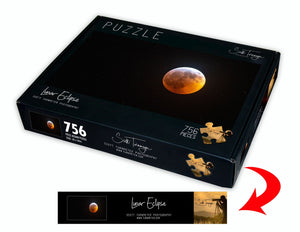 Lunar Eclipse Fine Art Photography Jigsaw Puzzle by Scott Turnmeyer