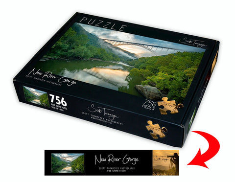 New River Gorge Fine Art Photography Jigsaw Puzzle by Scott Turnmeyer