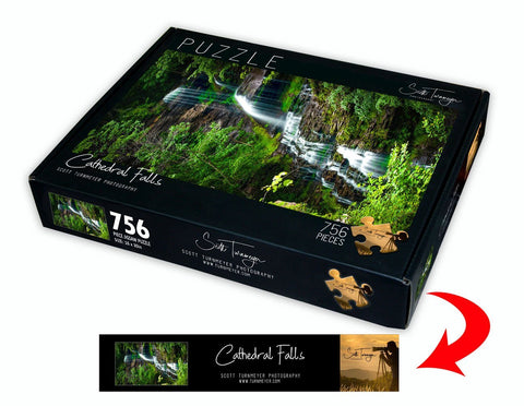 Cathedral Falls Fine Art Photography Jigsaw Puzzle by Scott Turnmeyer - Turnmeyer Galleries