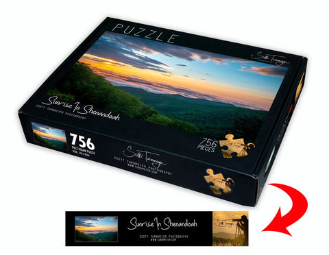 Sunrise in Shenandoah Fine Art Photography Jigsaw Puzzle by Scott Turnmeyer