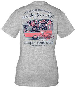 Let's Go Somewhere Tshirt by Simply Southern - Turnmeyer Galleries