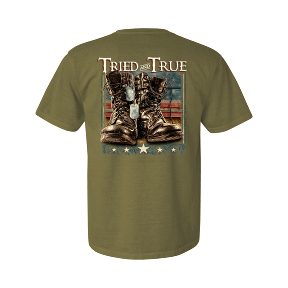 Military Boots T-shirt by Tried and True - Turnmeyer Galleries