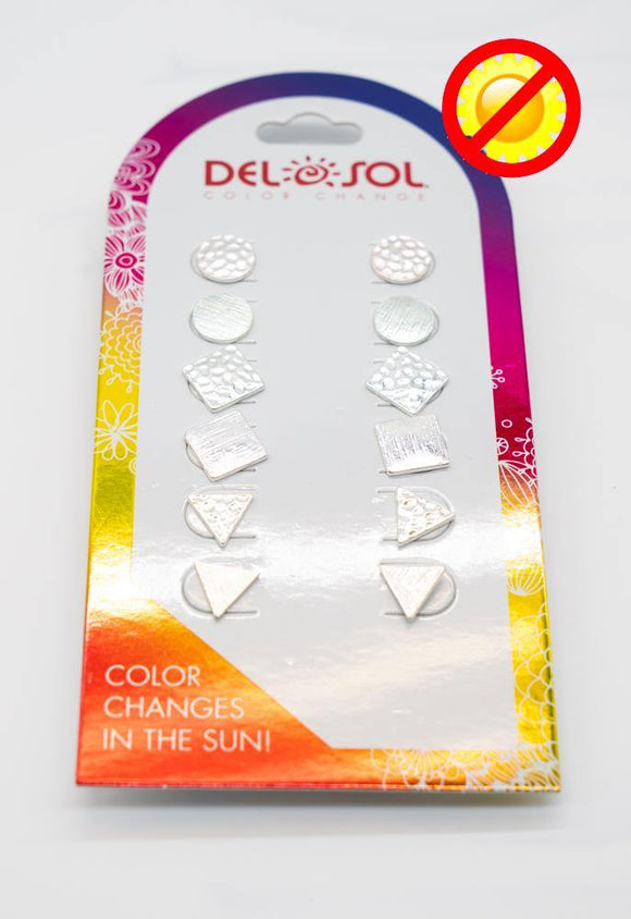 Del Sol Metal Ear Rings 6pk