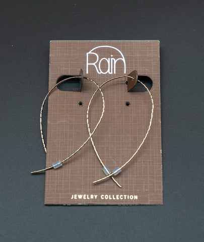 Silver Matte Arc Wire Threader Ear Rings