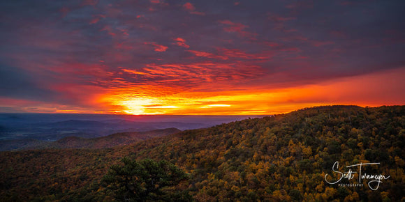 Shenandoah Sunrise 4x6 Photo Magnet by Scott Turnmeyer