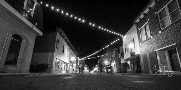 Main Street at Night Fine Art Landscape Photography Print