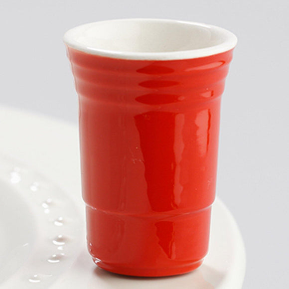 Fill Me Up Red Solo Cup Mini by Nora Fleming - Turnmeyer Galleries