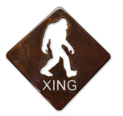 Bigfoot X-ING Metal MAGNET Sasquatch - Turnmeyer Galleries