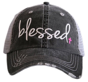 Blessed with Cross Trucker Hat - Turnmeyer Galleries