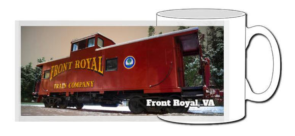 Front Royal Caboose Ceramic Photographic Mug - Turnmeyer Galleries