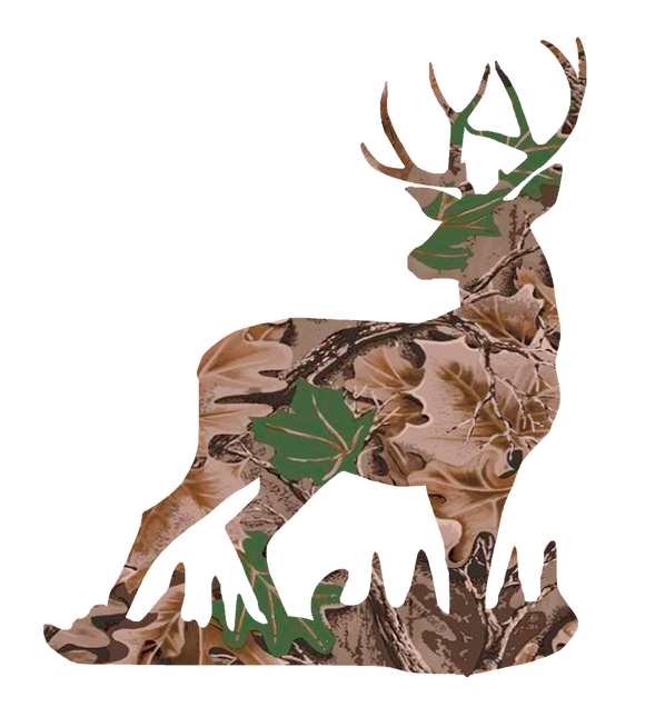 Camouflage Deer Sticker Decal