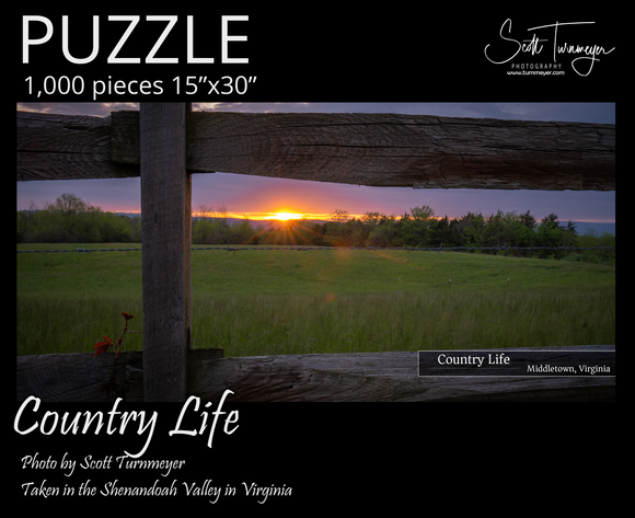 Country Life Fine Art Photography Jigsaw Puzzle