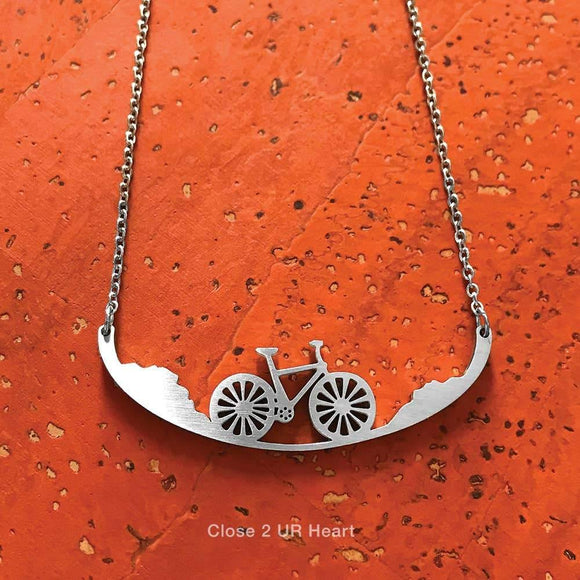 Bicycle Stainless Steel Necklace - Turnmeyer Galleries