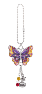Enjoy Every Moment Butterfly Car Charms - Yellow & Pink - Turnmeyer Galleries