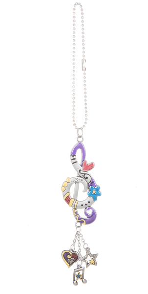 Car Charm - Treble Clef - Turnmeyer Galleries