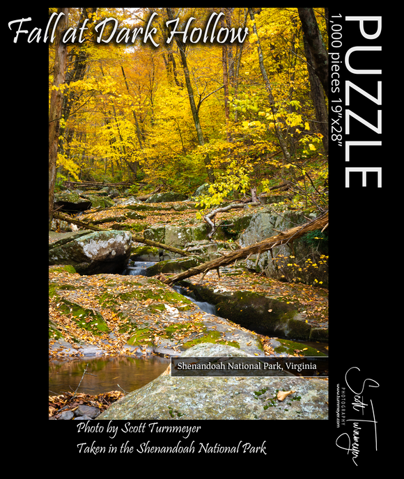Fall at Dark Hollow Fine Art Photography Jigsaw Puzzle - Turnmeyer Galleries